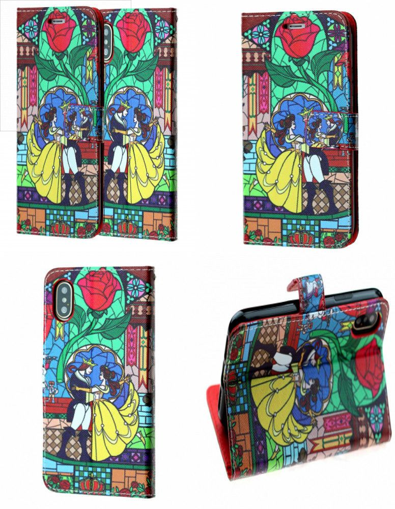 promo code 62eeb c81a5 BEAUTY & THE BEAST Folio Wallet Case Cover Card Holder Kickstand For ...