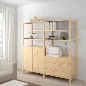 IVAR 3 drawer chest, pine IKEA in 2020 | Shelves in