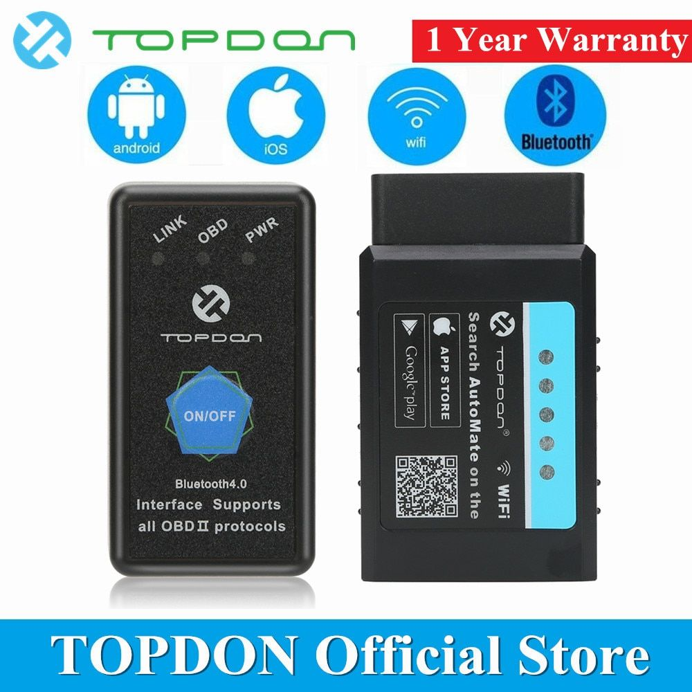 Topdon Automate Elm327 Bluetooth V1 5 Wifi Pic18f25k80 Obd2 Scanner Automotive Obdii Full Function Diagnostic Obd2 Scanner Diagnostic Tool Car Diagnostic Tool