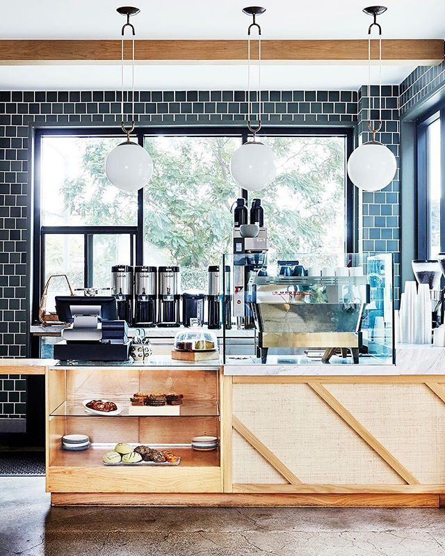The best morning routines include ☕️ + great interiors. Double-tap if you agree, and then click the link in our bio to find out which L.A. hot spot needs to be on every foodie's bucket list. | photo: @jennapeffley for MyDomaine