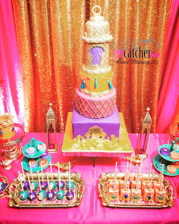 Captivating Cake From A Moroccan Baby Shower On Karau0027s Party Ideas |  KarasPartyIdeas.com (14