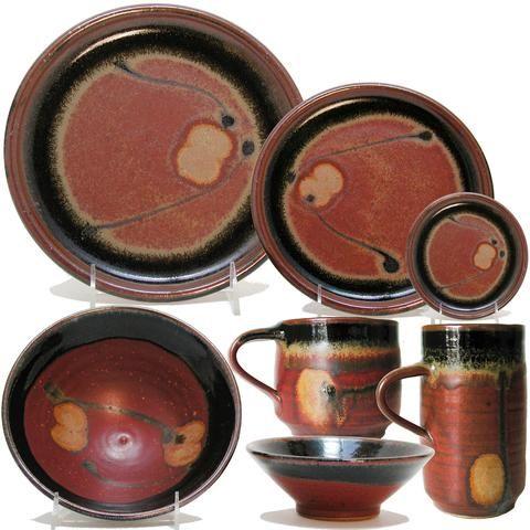 Pottery  sc 1 st  Pinterest & Dinnerware Place Setting by Maishe Dickman | ceramics | Pinterest ...