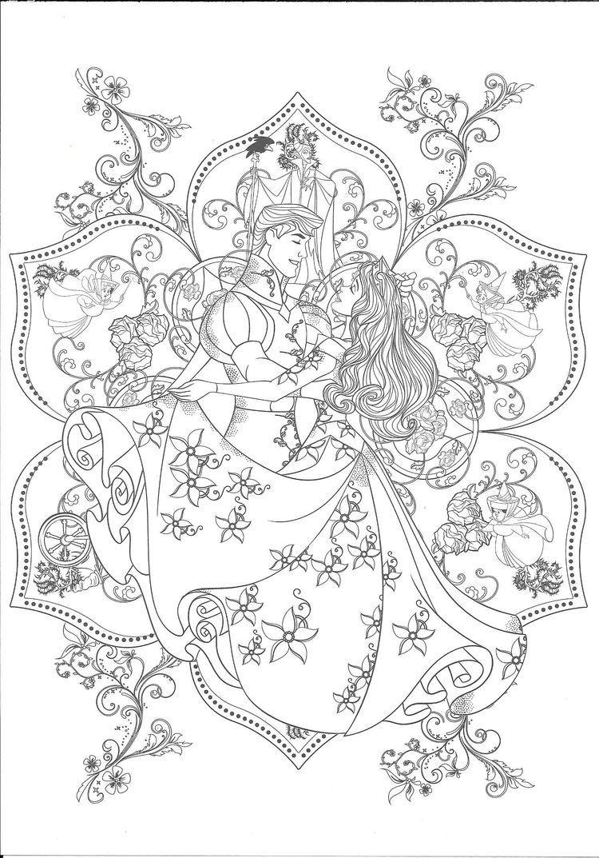 Pin Von Lucy Dragoneel Auf Disney Mandala Disney Prinzessin
