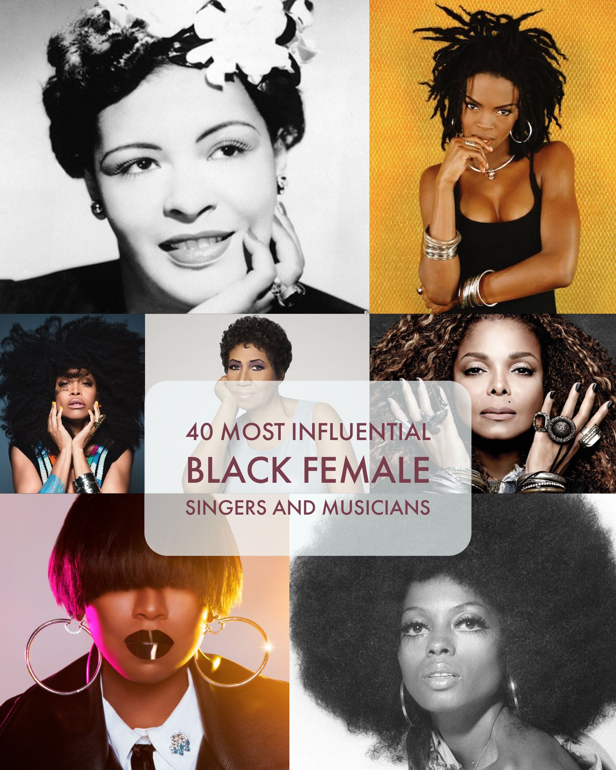 The most influential black female singers and musicians