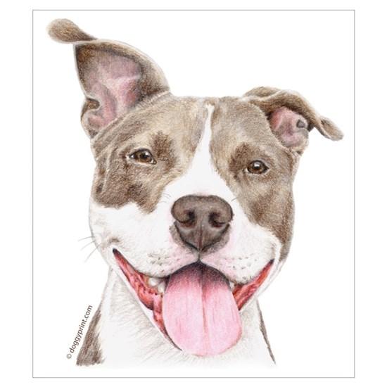 Pitbull Terrier By Admin Cp1120335 Cafepress Pitbull Art Pitbull Drawing Dog Paintings