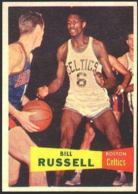 Bill Russell Basketball Cards Bill Russell Rookie Card 1957 Topps