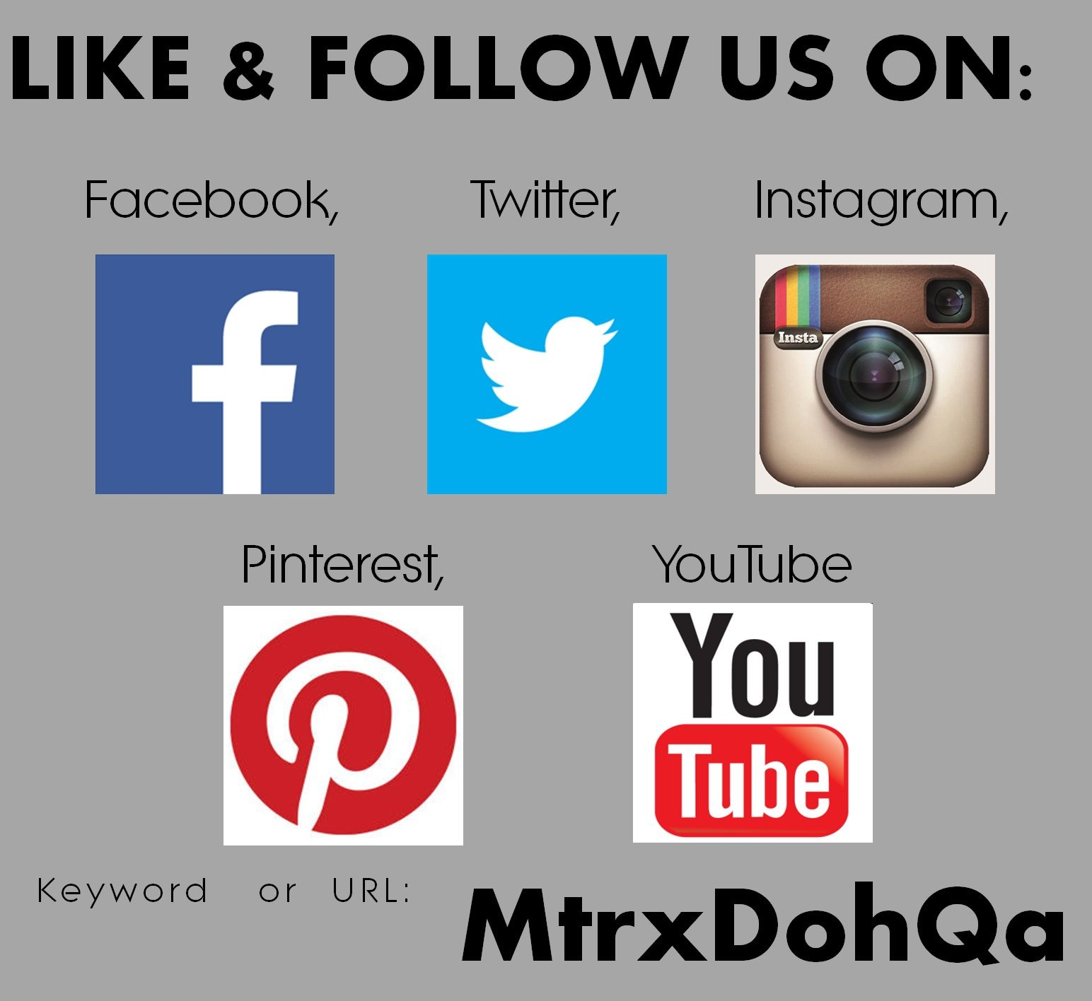 Like Follow Us On Facebook Twitter Instagram Pinterest Youtube Keyword Mtrxdohqa Youtube Twitter Instagram Instagram