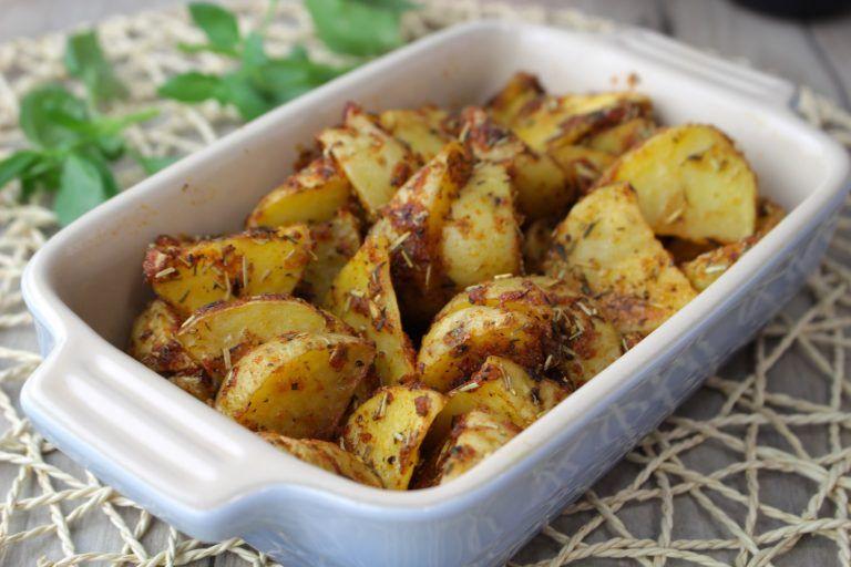 Patatas deluxe o cajún al microondas