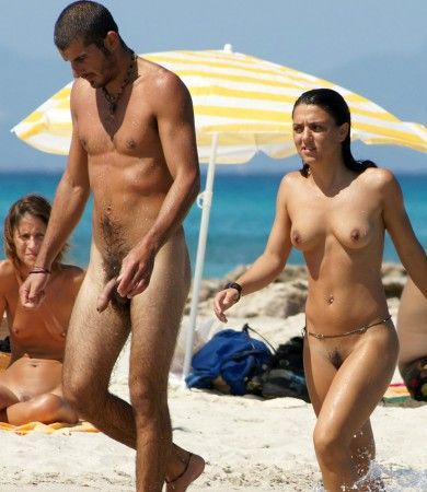 Naked long cock on the beach and write and