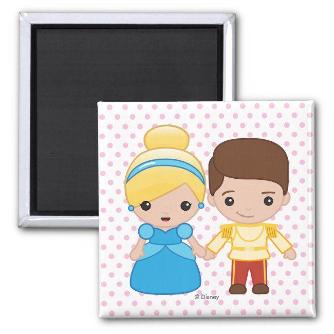 Cinderella and Prince Charming Emoji Magnet  Funny faces always make me laugh