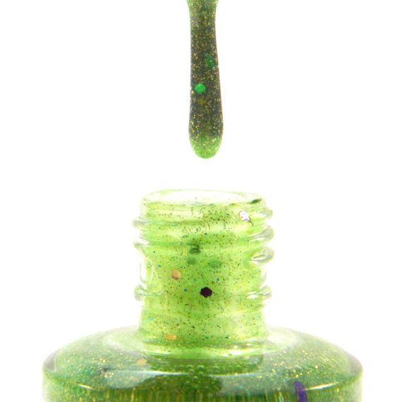 Toxic Nail Polish  Neon Green Glitter Nail Polish  05 by KBShimmer, $7.50