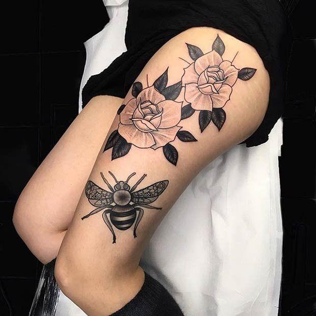 Tattoo Oberschenkel Frauen