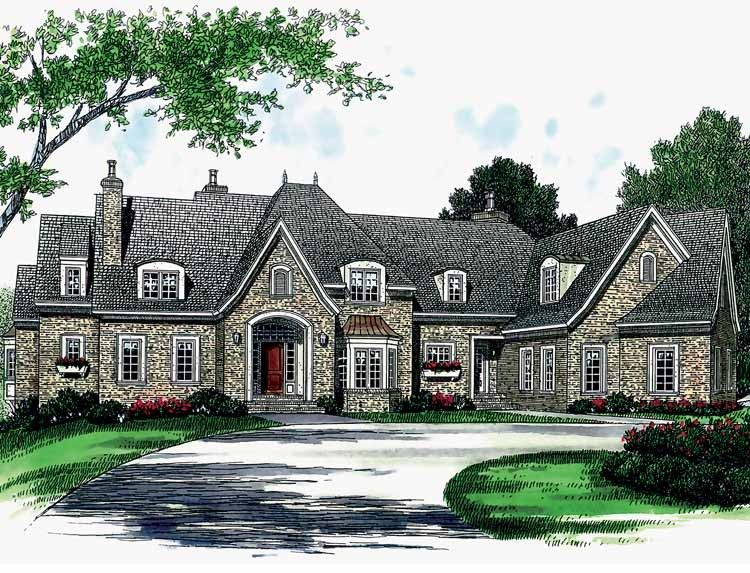 French Country House Plan with 7238 Square Feet and 6 Bedrooms from     French Country House Plan with 7238 Square Feet and 6 Bedrooms from Dream  Home Source   House Plan Code DHSW34529