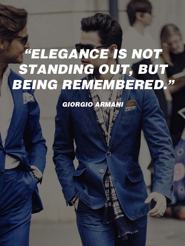 1b244622155 20 Best Men's #Fashion #Quotes To Step Up Your #Instagram ...
