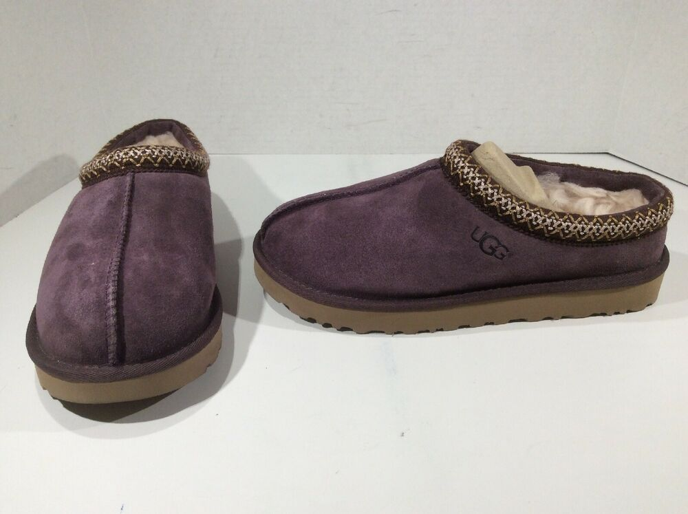 107539a0774 eBay Advertisement) UGG Australia Womens Tasman Purple Suede Clogs ...