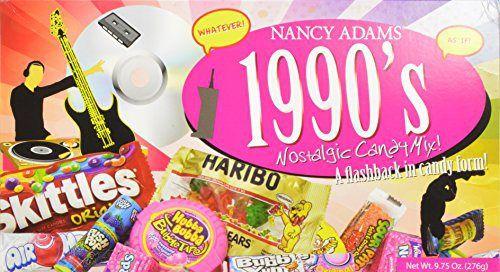 1990s Nancy Adams Nostalgic Candy Mix Gift Box 9.75 Oz. Gift Basket Classic 90's Candy - http://mygourmetgifts.com/1990s-nancy-adams-nostalgic-candy-mix-gift-box-9-75-oz-gift-basket-classic-90s-candy/