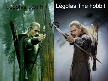 Legolas from the Lord of the Rings Vs. Legolas from The ...