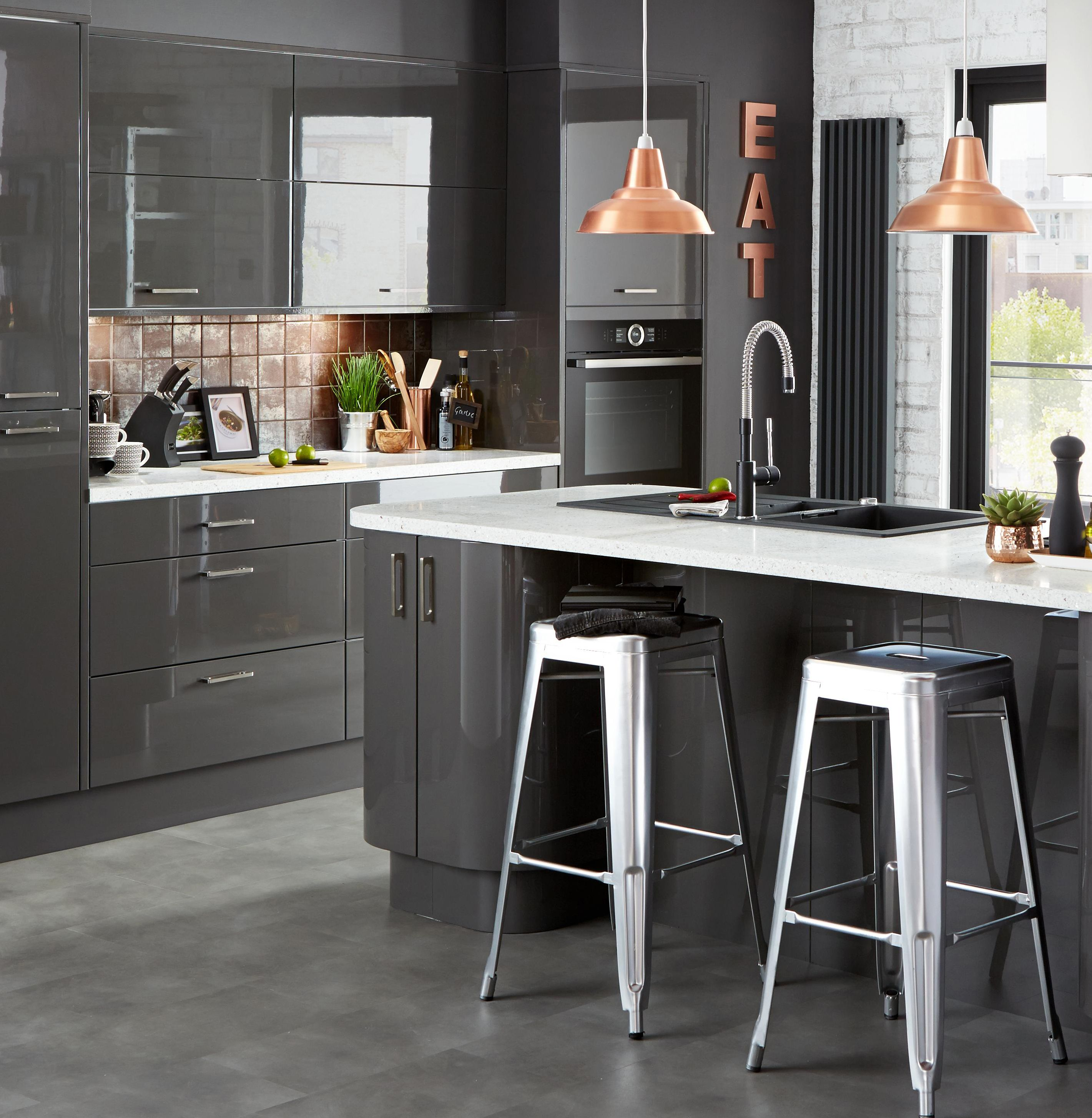 Give ultra modern kitchens an extra lift with metallic