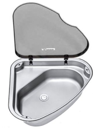 Delicieux Thetford Stainless Corner Sink With Lid (L/H Or R/H) Sinks (galley U0026  Bathroom) A Great Space Saving Idea. This High Quality Sink Is Ideal For A  Boat, ...