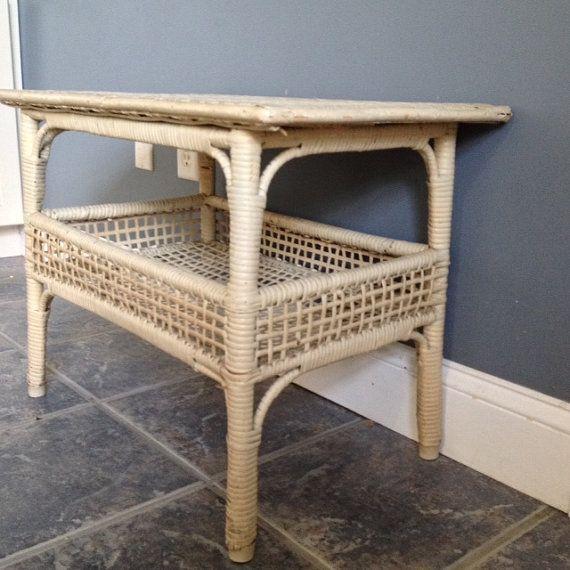 Wicker Table by 14meadowridge on Etsy, $60.00