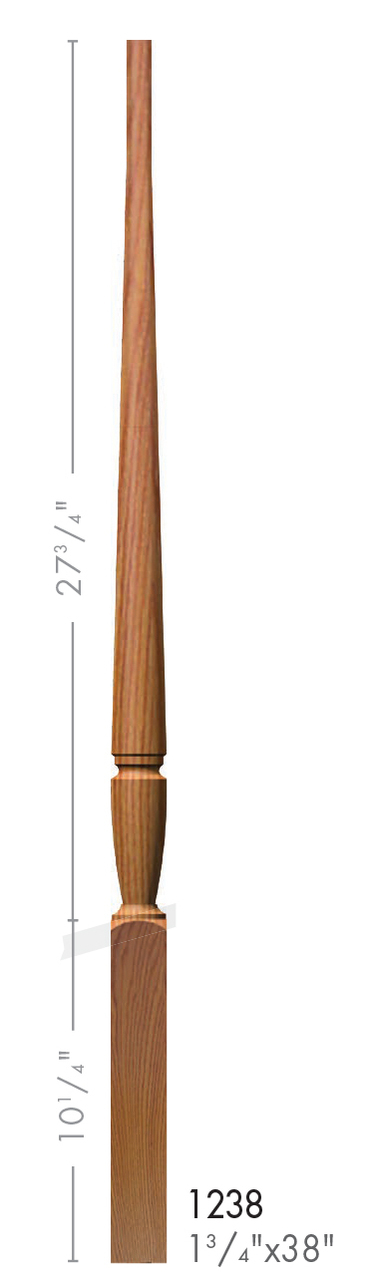 Best 1238 Bunker Hill Style Pin Top Baluster Bunker Hill 400 x 300
