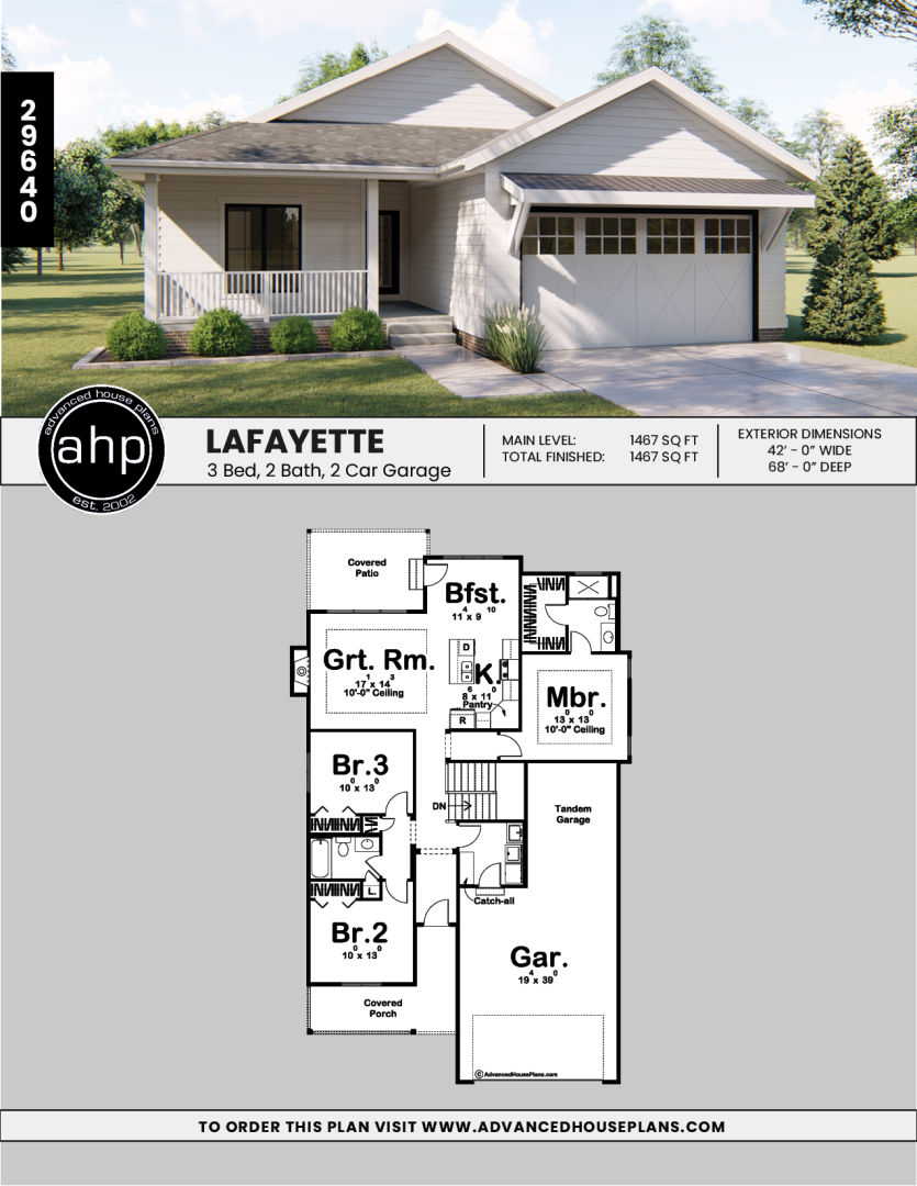 1 Story Modern Farmhouse House Plan | Layfayette | House ...