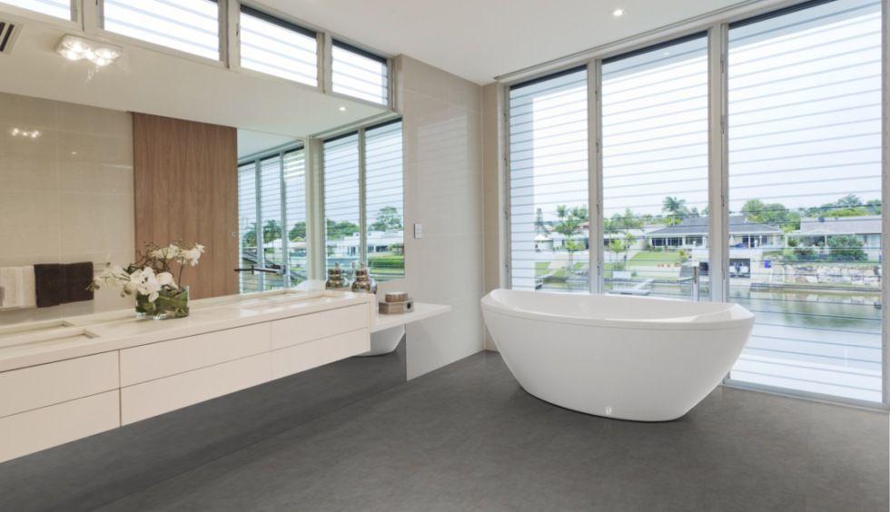 Bestens Fur Warmwasser Fussbodenheizungen Geeignet Klick Viny Fliesen Fur Das Bad Badezimmer Innenausstattung Modernes Badezimmerdesign Badezimmer Einrichtung