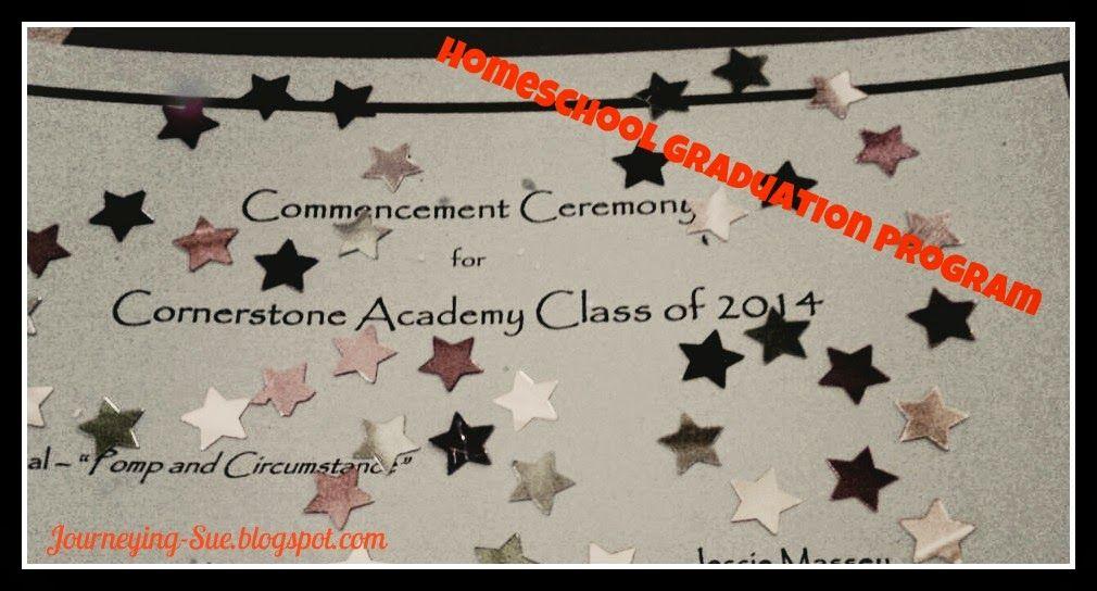 Journeying Sue Homeschool Graduation Program Template - graduation program
