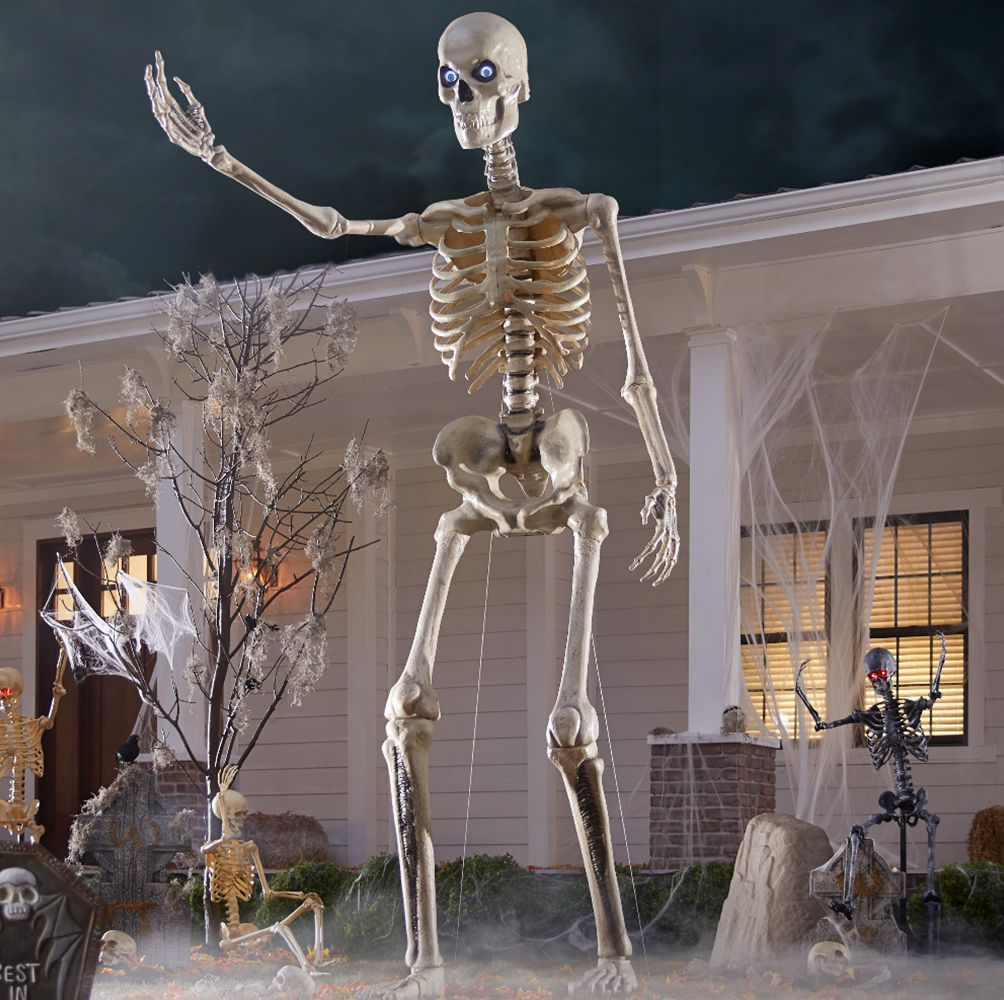 Home Depot Is Selling A 12 Foot Skeleton That Will Be The Talk Of The Town In 2020 Halloween Outdoor Decorations Halloween Decorations Indoor Outdoor Halloween