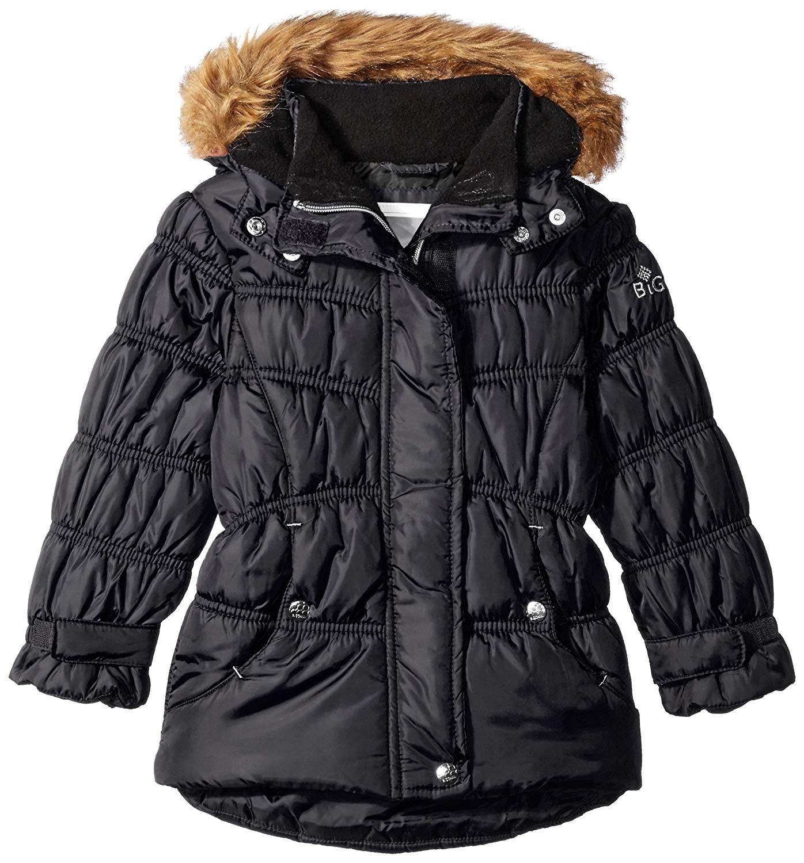Rothschild Little Girls Down Alternative Quilted Chevron Puffer Jacket Coat  Down & Down Alternative