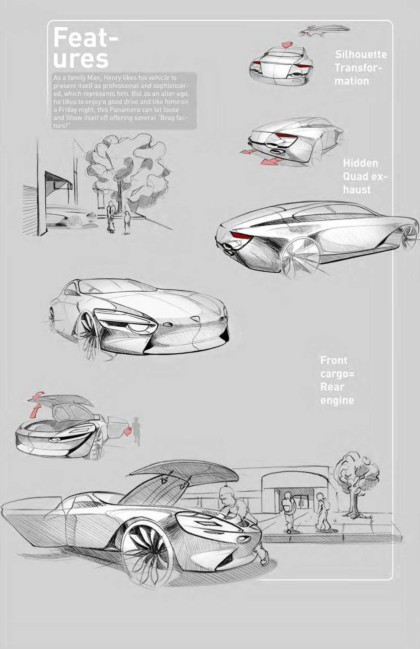 Porsche - Luis Jimenez   C A R // E X T E R I O R // S K E T C H E S ...