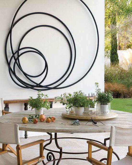 Home designed by architect pedro ribeiro pita i love the sculpture on the wall modern outdoor wall artoutdoor artoutdoor metal