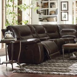 Bassett Motion Sectional From Lenoir Empire Furniture. Fully Reclining.