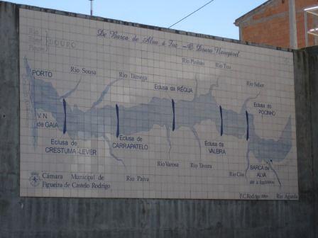 Map Of Dams On The Douro River Barca D Alva Unesco Heritage Site