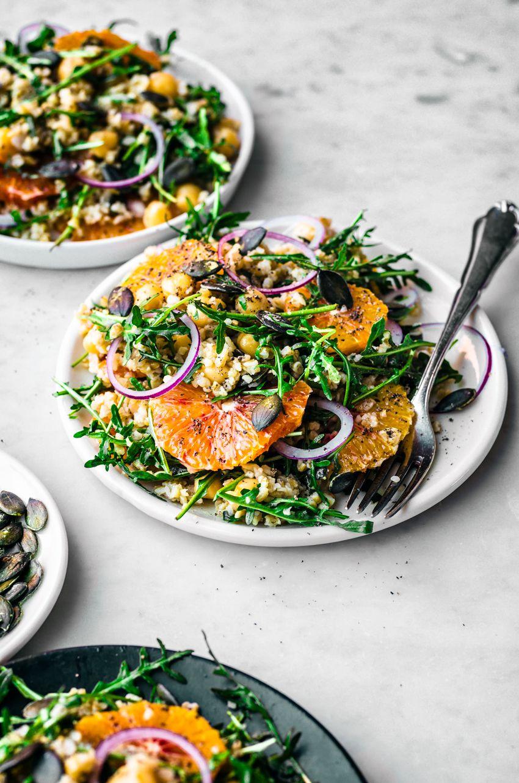 Winter Freekeh Salad With Orange Occasionallyeggscom