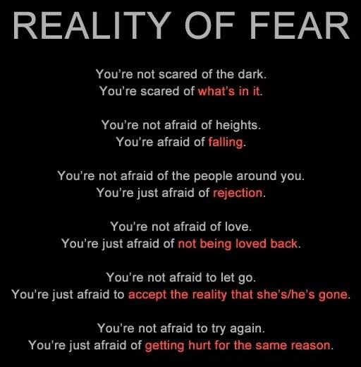 Good Advice Fear Quotes Life Quotes Afraid Of Love