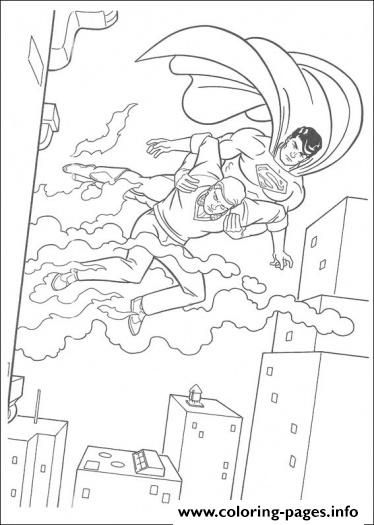 Print superman saves life coloring page5b4e coloring pages ...