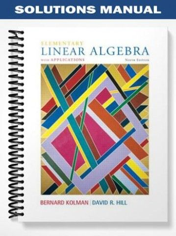 solutions manual for elementary linear algebra with applications 9th rh pinterest com Elementary Linear Algebra Applications Version Elementary Linear Algebra Larson Solution
