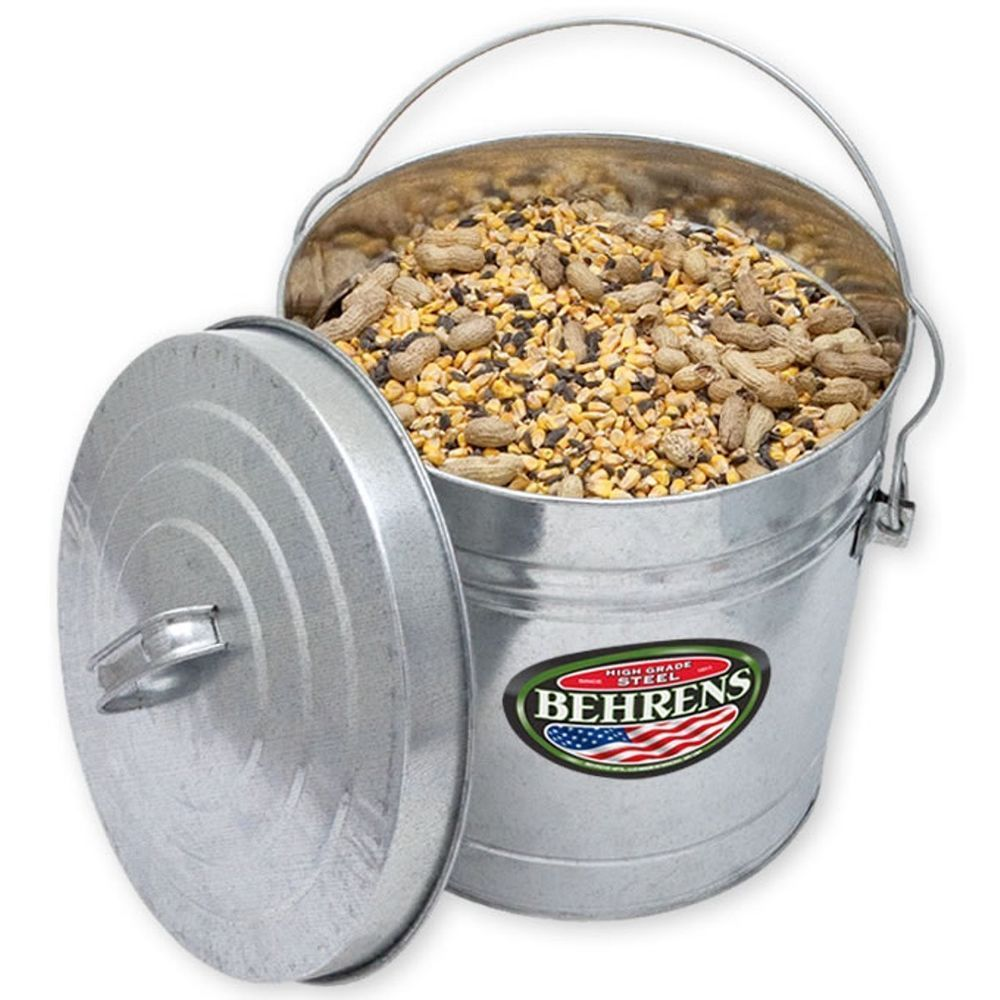 10 Gallon Locking Lid Can Dry Storage Bucket For Pet Food Bird Seed Rodent Proof