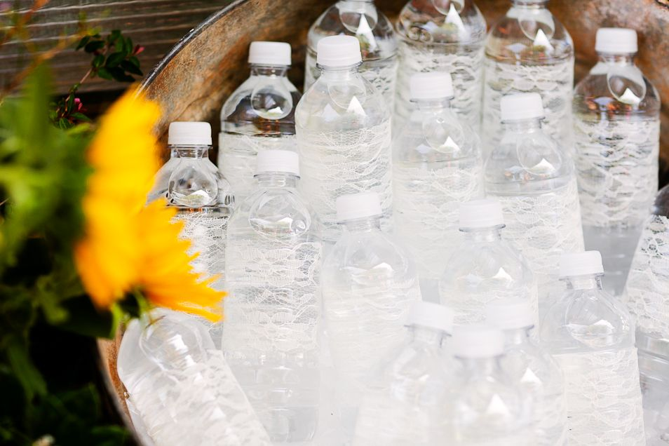 Water bottles for ceremony.