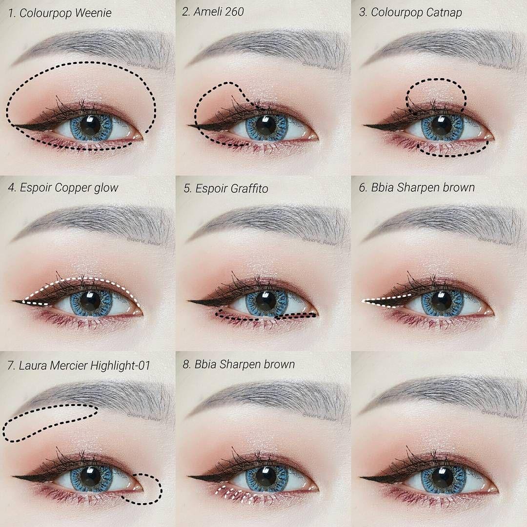 Korean Eye Make Up I Pin By Aki Warinda 한국 눈 화장