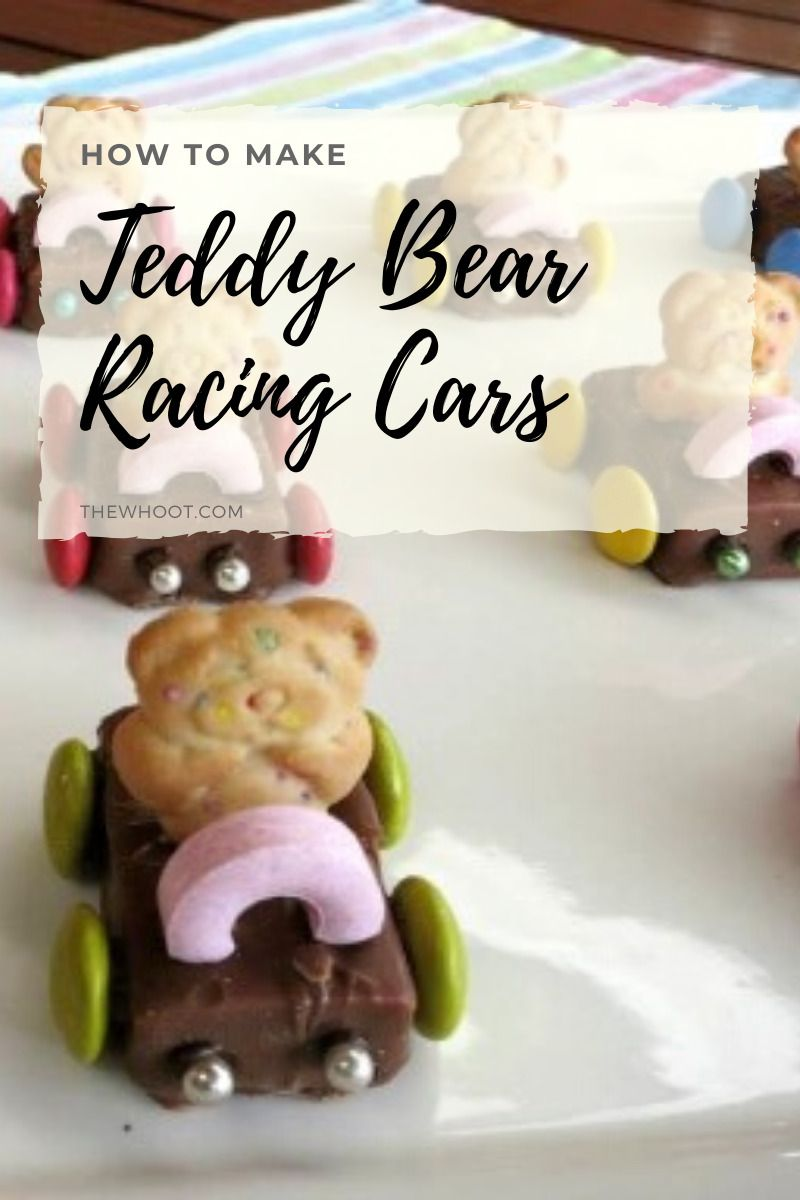Teddy Bear Racing Cars Party Food Snacks - The WHOot #childrenpartyfoods