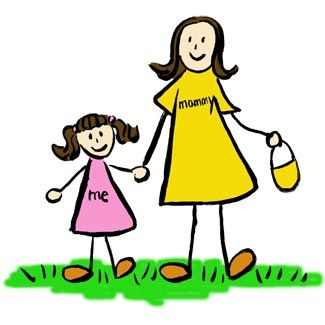 Mother and Daughter Art Picture Brunette