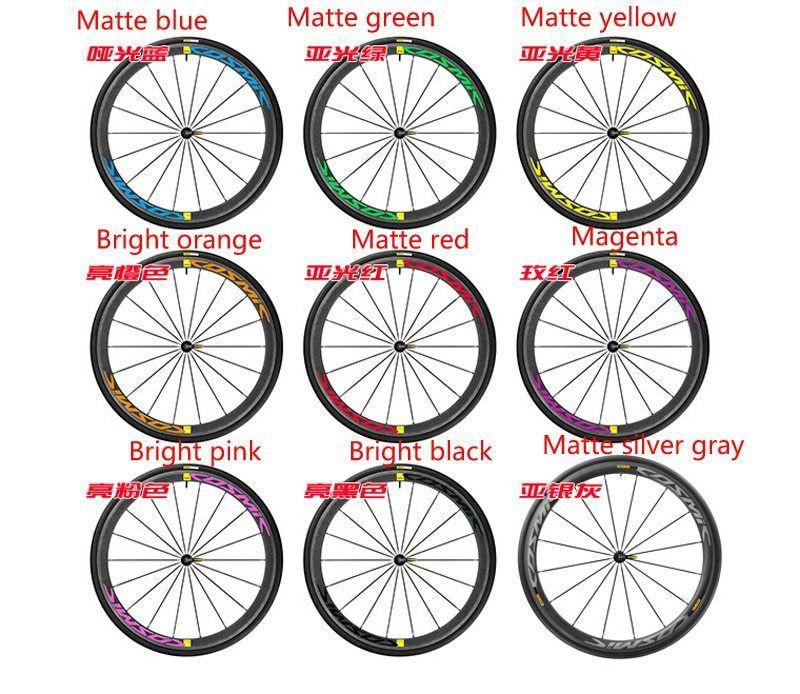 Mavic Cosmic Two Wheels Rim Set Stickers For Road Bike Bicycle
