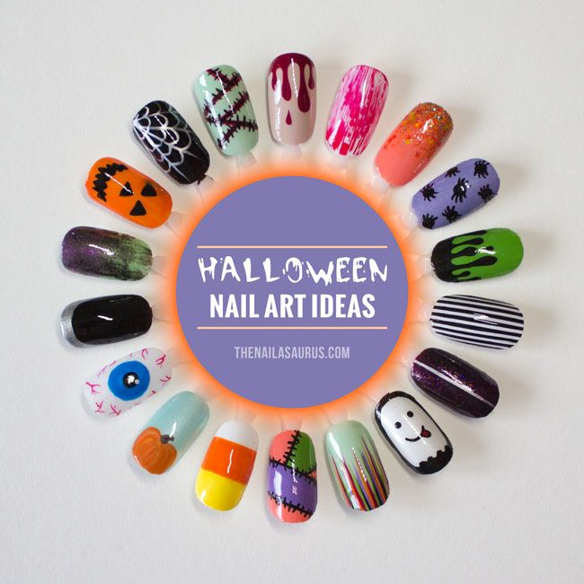 18 Easy Nail Art Ideas For Halloween I Nail Art Pinterest