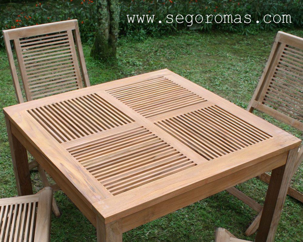 Teakoutdoorfurnituresmallslatjpg Tables - Small teak patio table