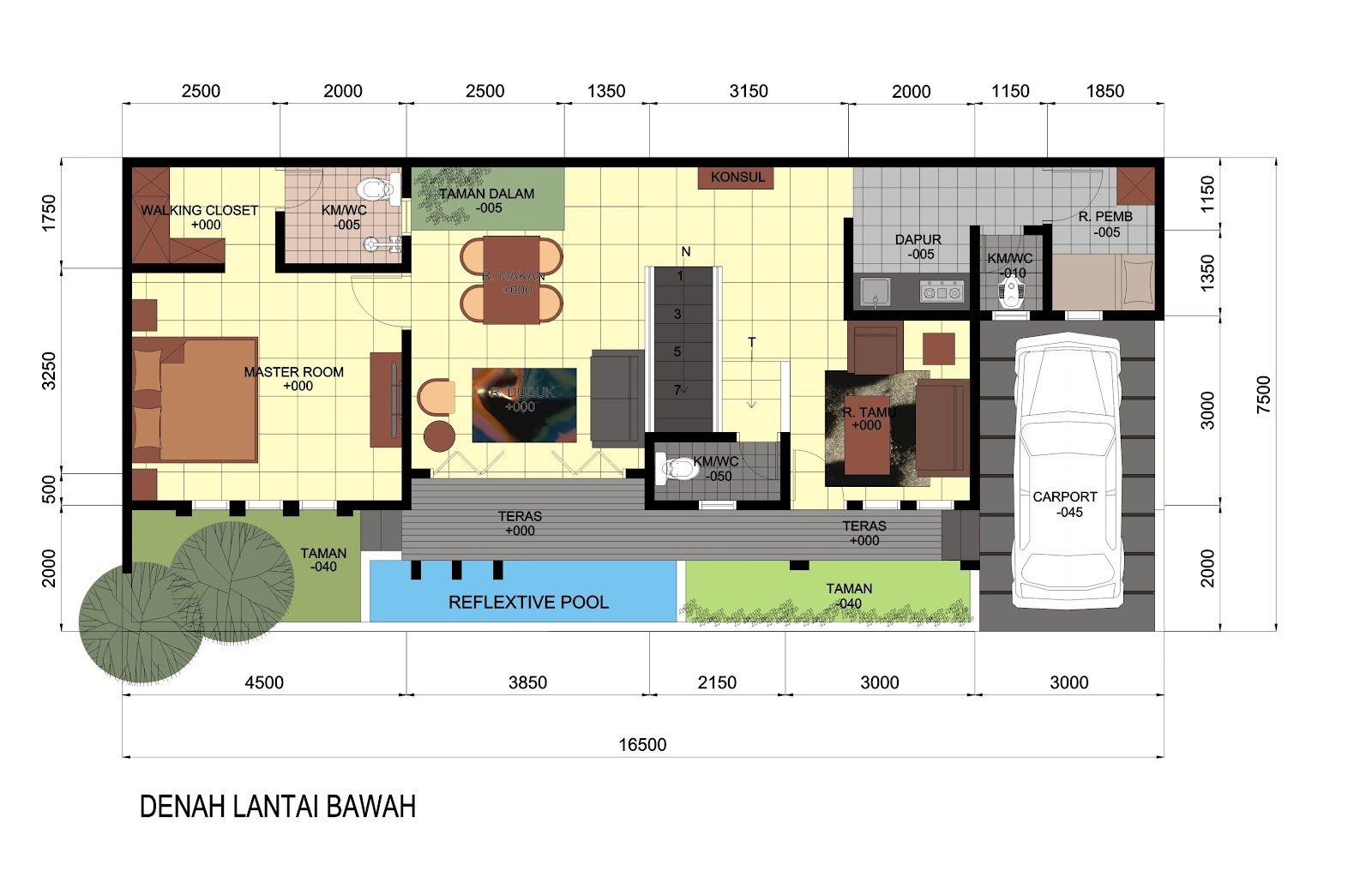 Desain Model Rumah Melebar Ke Samping