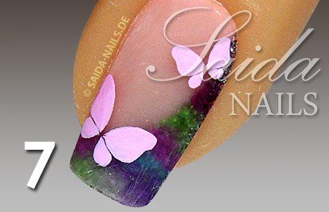Farfalla Tutorial su glitter polvere