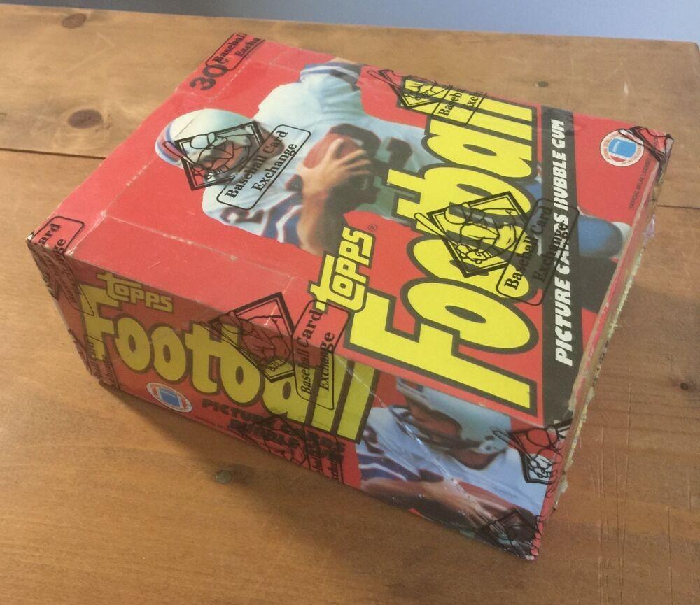 1981 topps football wax box 36packs bbce authentic