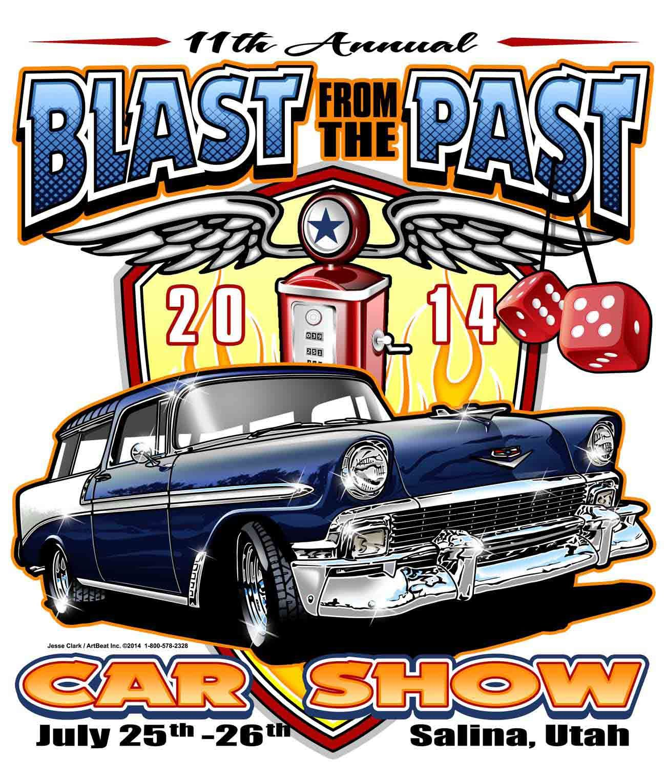 2014 Blast From The Past Car Show- Salina, Utah/ July 25